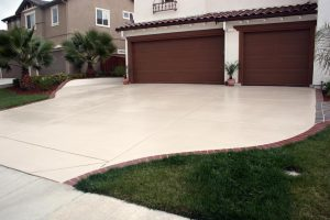 no slip finish on concrete driveway