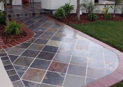 4 coats of SKID SAFE on slate tile and brick