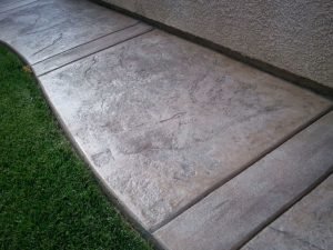 slippery concrete walkway sealed with no slip finish