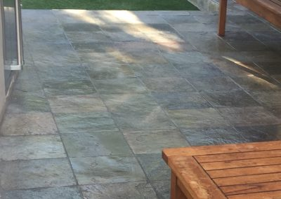 Slate deck sealed with NO SLIP SKID SAFE SYSTEM™
